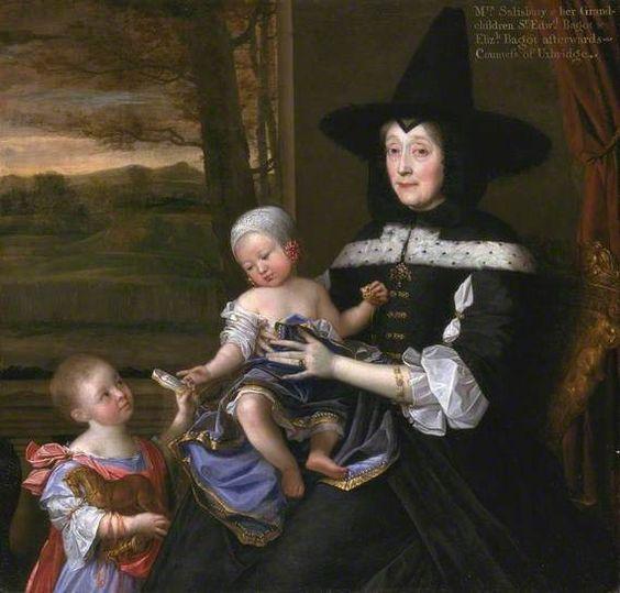 Джон Майкл Райт  Миссис Сэйлсбэри со своими внуками (ок. 1676)