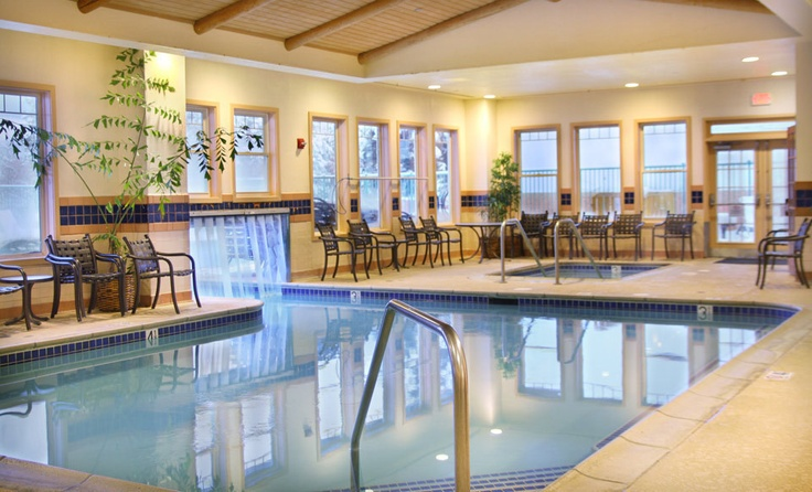 Lake Tahoe Vacation Resort swimming pool.  You can book this resort at Vacation4Less on Facebook.