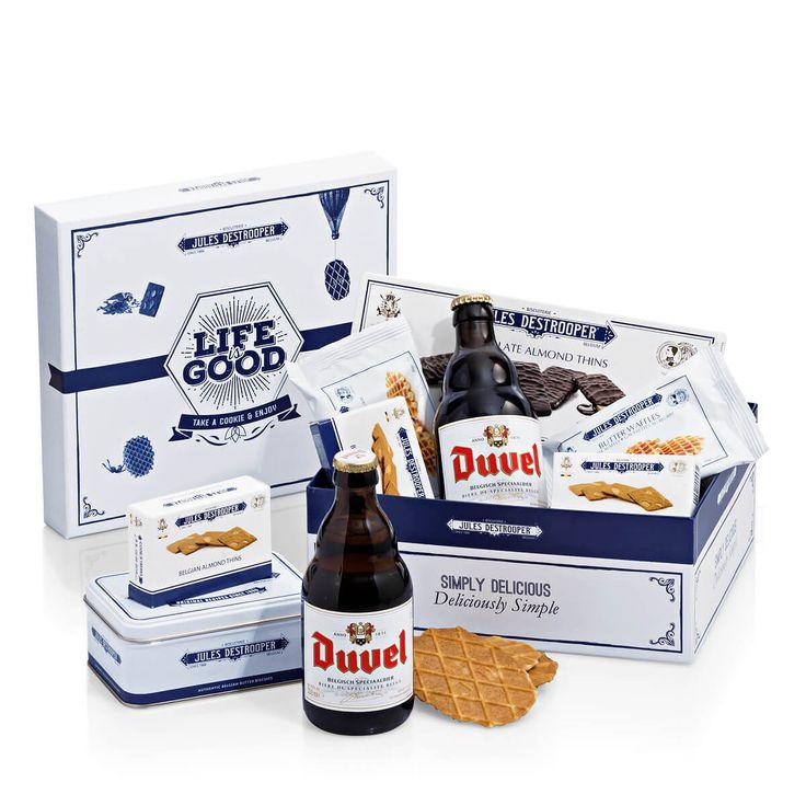 Jules Destrooper geschenkdoos met koekjes en Duvel bier