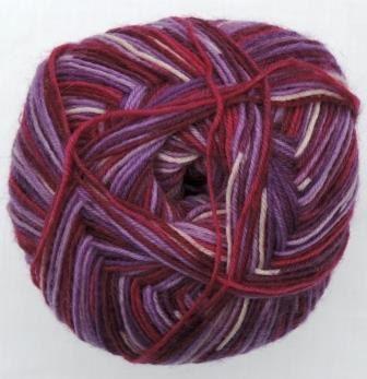 Hot Socks Stripes 4-fach superwash - Berry mix stripes 1661-606, 75% Merino superwash by ColorfullmadeShop on Etsy