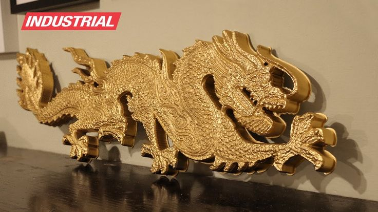 Making of a Golden Dragon carved with a CNC Router using ZrN Coated Router Bits