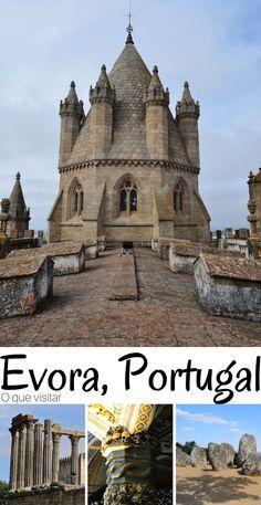 A cidade de #Evora entrou no nosso roteiro de 15 dias viajando em #Portugal, pois queríamos ver de perto a tão famosa Capela dos Ossos, qual foi nossa surpresa ao sermos agraciados com uma linda cidade murada e com vários outros cantinhos lindos.