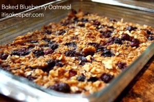 Baked Oatmeal with Blueberries on MyRecipeMagic.com