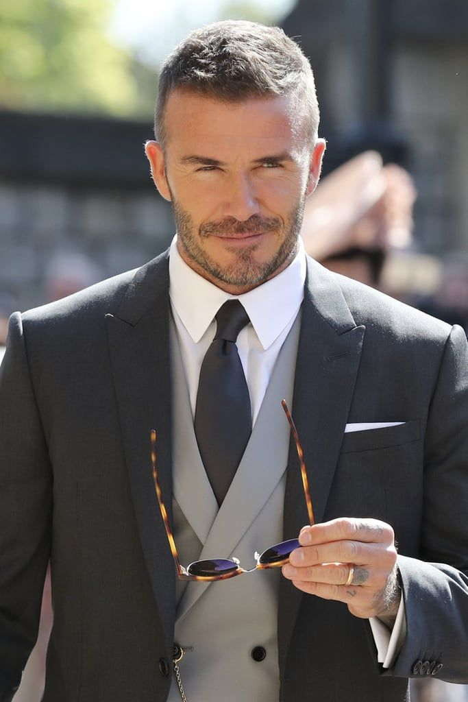 We Need To Pause Our Royal Wedding Emotions And Take 5 To Swoon Over David Beckham David Beckham Hairstyle Beard Styles Short Beckham Haircut