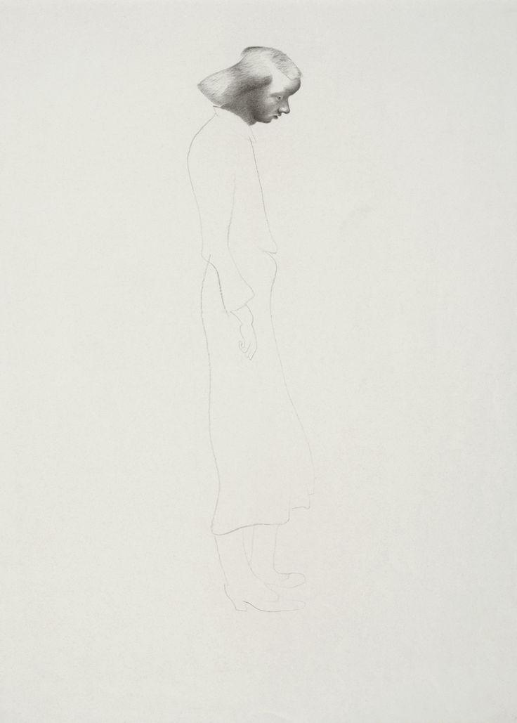 © Vlasta Vostřebalová Fischerová - Matka vražednice (1935), kresba uhlem, Galerie umění Karlovy Vary