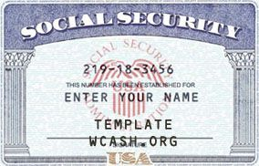 Template SSN (Social Security Card) | Template photoshop ...