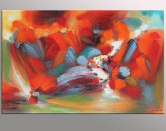 Abstract Canvas Art Kitchen Decor Original by GeorgeMillerArt