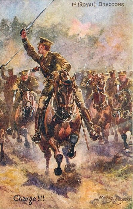 Image result for cavalry in wwi art