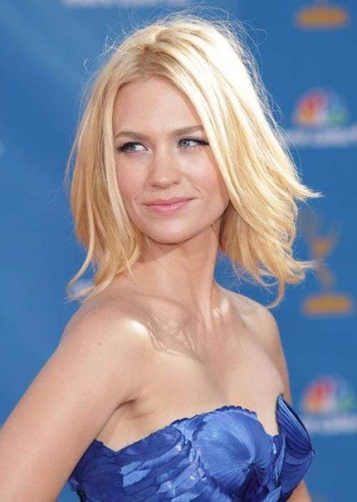 Buttery Blonde:  The Right Hair Color For Cool Skin Tones January Jones has my dream cut & color