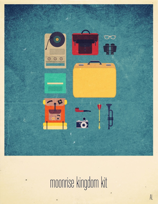 $7 Moonrise Kingdom's minimalist poster. by Alizee Lafon, via Behance
