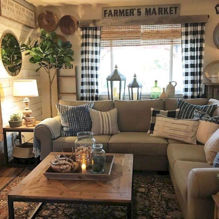 Modern Farmhouse Living Room First Apartment Ideas