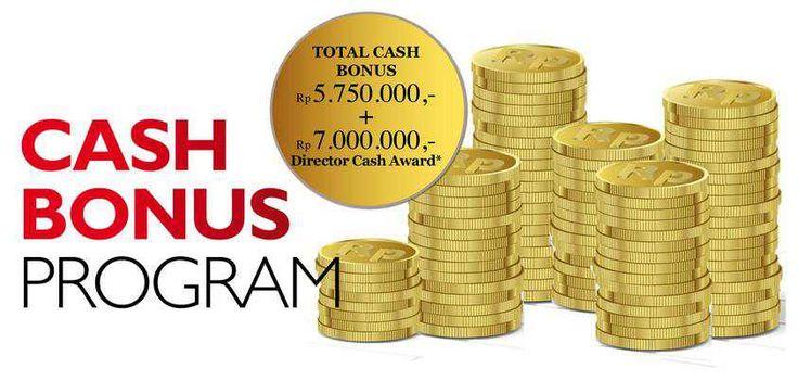 Alhamdulillah....Sekarang gak cuma direktur nih yang bisa meraih cash bonus... Khusus di C5-C12, new achiever 15%, 18%, dan Senior Manager juga bisa meraih cash bonus loo... Wah harus dikejar nih...Yuuk wujudkan impianmu juga bersama Oriflame! Info lengkapnya klik: http://id.oriflame.com/recruits/show.jhtml?tag=Cash-Bonus-Program