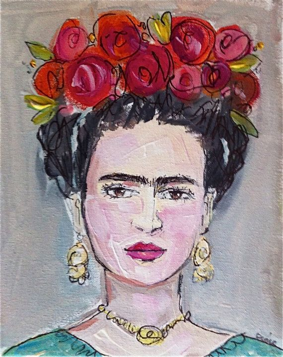 Frida Kahlo Painting on Canvas by DevinePaintings on Etsy, $68.00