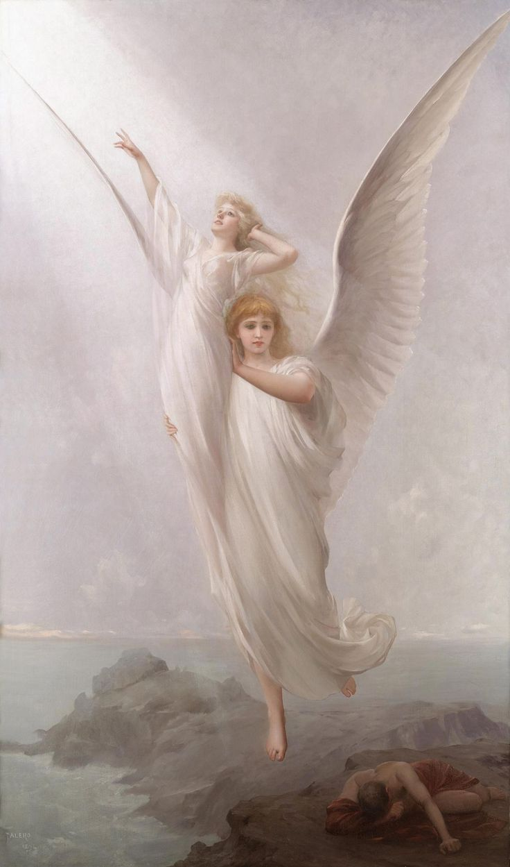 Душа человека Луис Рикардо Falero (1851-1896) холст, масло, 1894