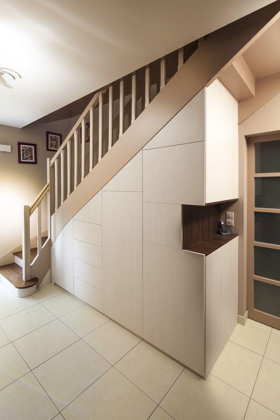 Placard sous escalier sur mesure Paris, Nantes, Vannes, Lorient : meuble sous escalier:
