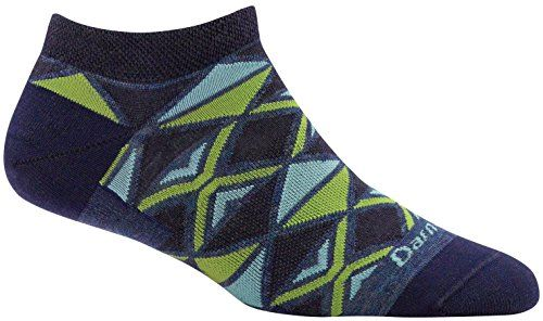 Darn Tough EL Sarape No Show Light Sock - Women's Denim Medium  Built Every Bit As Tough As All Our Hike, Vertical And Running Socks.  Merino Wool Delivers All-Season Comfort In Both Cold And Warm Weather.  Fine Gauge Knitting. Less Bulk. Superior Fit.  Still made in Vermont, USA  Still unconditionally guaranteed for life.