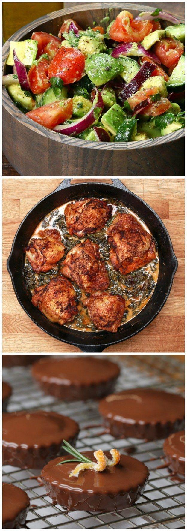 #TastyTuesday: Avocado, Cucumber, Tomato Salad, Creamy Lemon Butter Chicken, and…
