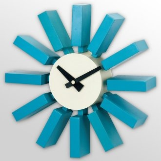 Best Electric Blue Mid Century Wall Clock Nelson Clock Wall 400 x 300