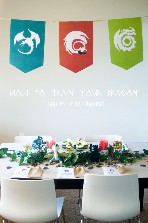 How To Train Your Dragon   DIY Party Decorations. A ton of great ideas! Cupcakes, free printables, games, and the best party favors.