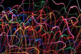 bright coloured lights streams