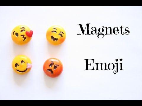 (TUTO) Magnets emoji en fimo - YouTube - mary go round crafts