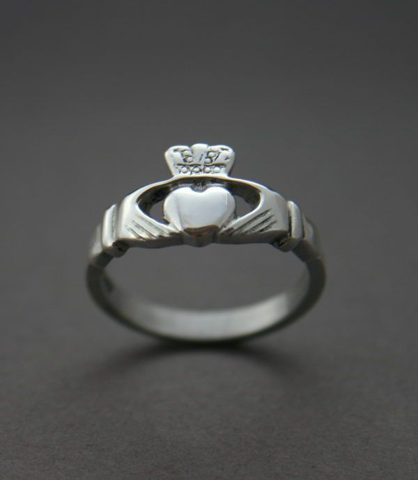 Beautiful Silver Ladies Handcrafted Silver Irish Claddagh Ring. Contact us to discuss directly engraving, personalized Claddagh ring or creating in any other precious metal. Free Worldwide Shipping directly from our workshop. www.claddaghdesign.com