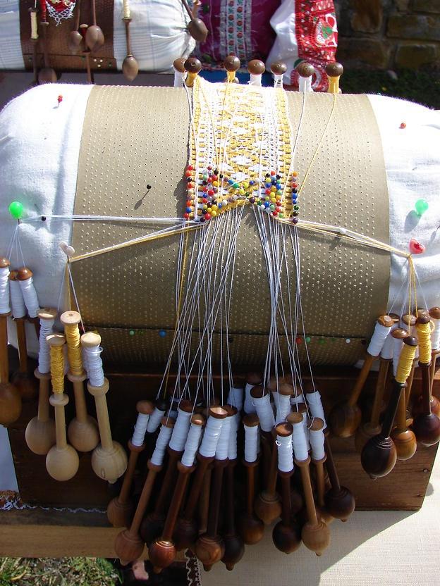 Slovak traditional lace making