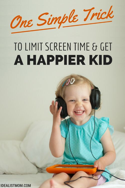 A Simple Trick to Limit Screen Time – And Get a Happier Kid, Too