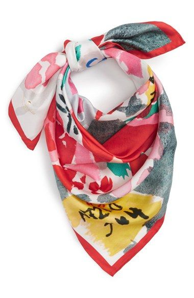 Free shipping and returns on kate spade new york 'bella' silk square scarf at Nordstrom.com. A tissue-weight square scarf in pure silk is patterned in a bright, lively flower print.