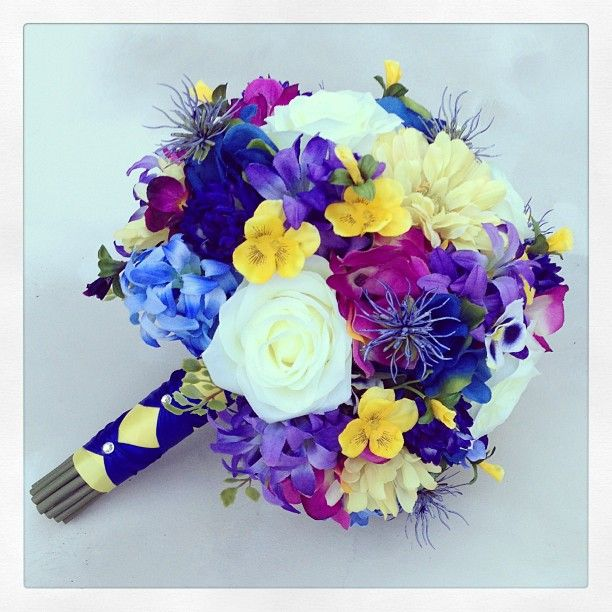 Realistic Silk Artificial Bridesmaid Bouquet Created By Something Fl Hily Ever After Pinterest Instagram Wedding And Photos