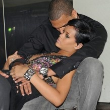Rihanna and Chris Brown look so in love in this pic!  I love these two together!!