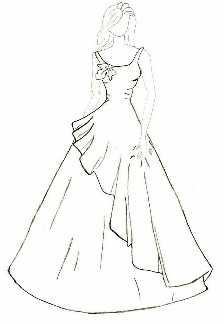Simple Dress Sketches For Fashion Designing