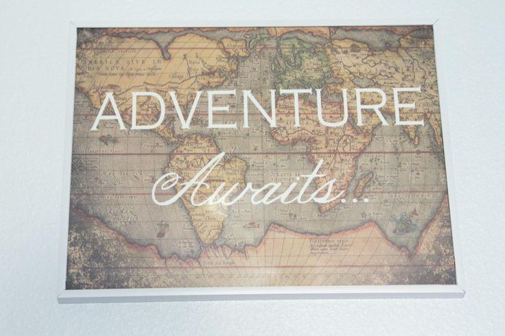 Project Nursery - White Vintage Boy Airplane Nursery World Maps