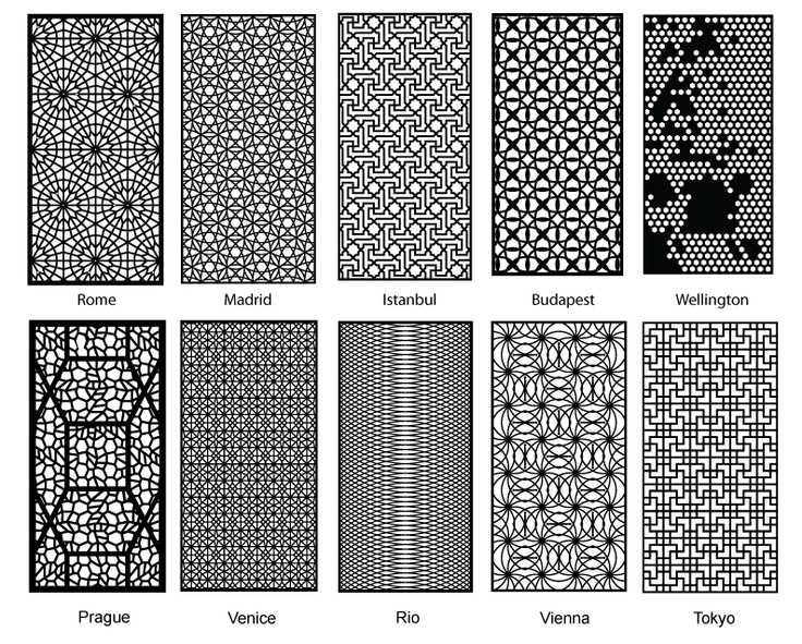 Partition Design Patterns For Laser Cut Wood. Amazing!