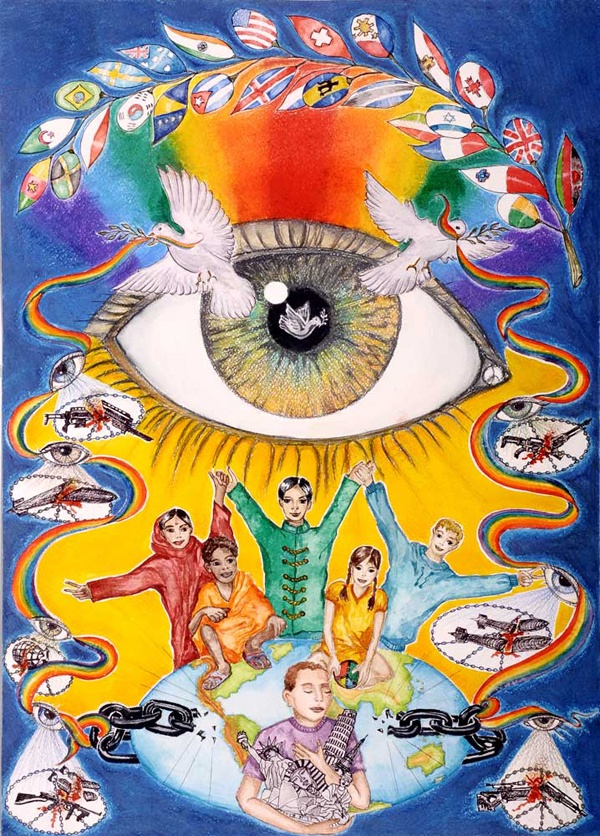 Peace poster drawing pinterest for Making prints of paintings