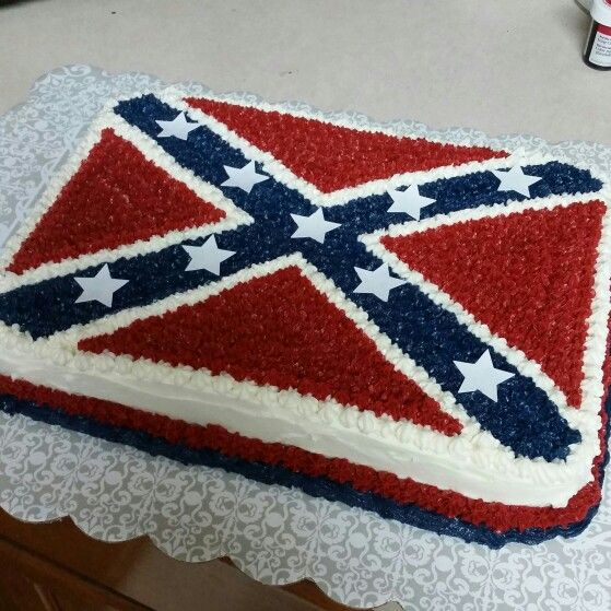 Confederate flag cake for boyfriends bday