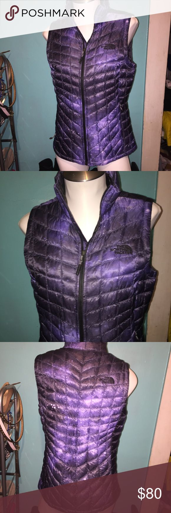 North Face thermoball vest Purple in color with kinda space pattern. Size small. Light weight but very warm. North Face Jackets & Coats Vests