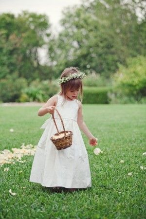 Floral hair wreath for flower girl | photography by http://jnicholsphoto.com/