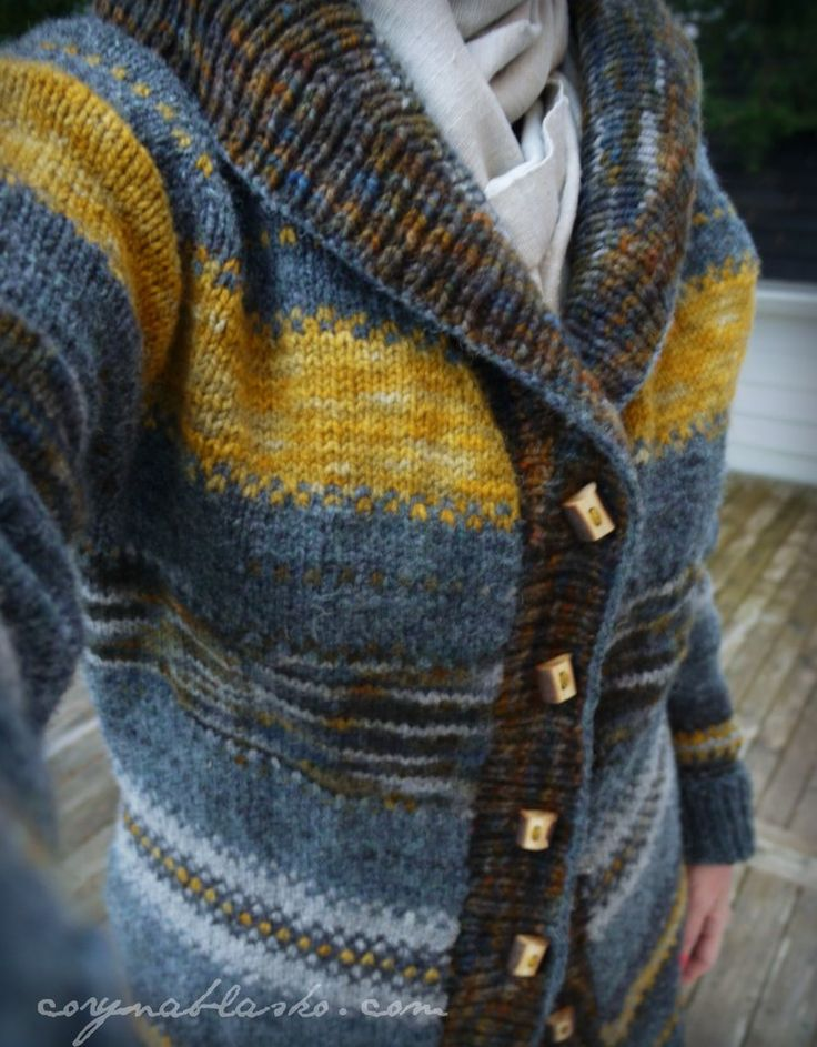 Gramps Cardigan pattern by Tin Can Knits. Briggs & Little Canadian yarn.
