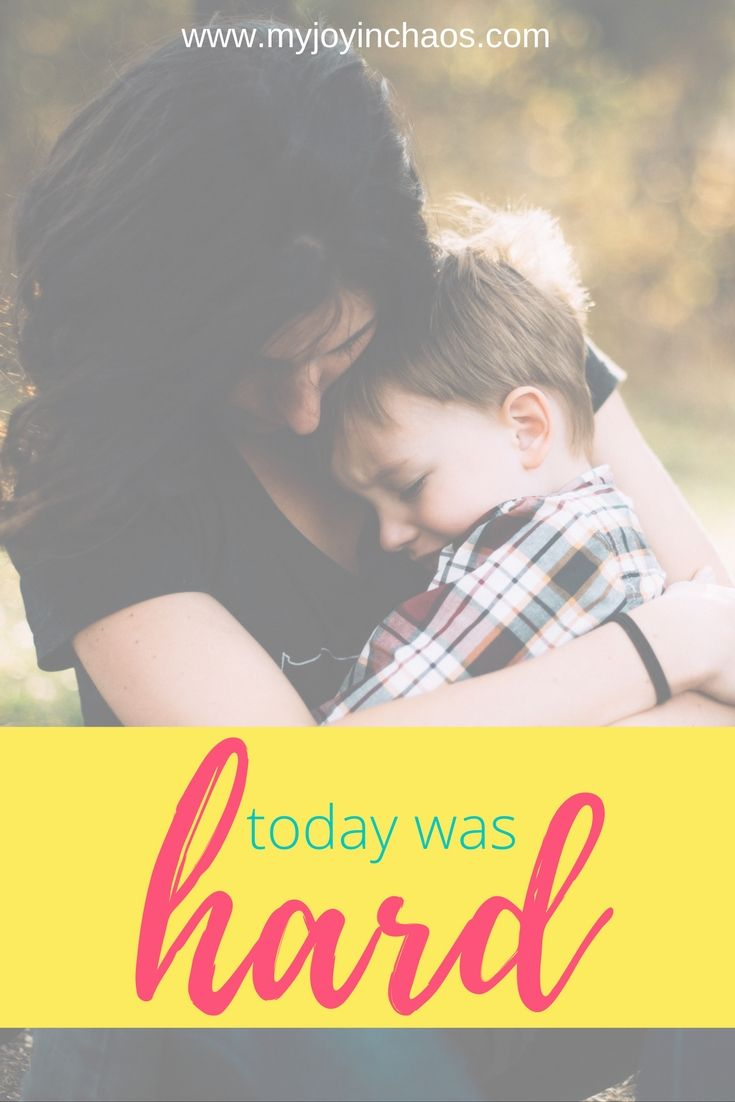 Today was hard | I don't know if it was the four day weekend, the extremely cold temperatures keeping us cooped up inside, or something else throwing off the normal groove of the house, but today was hard.? #motherhood #hardday #forgiveness #parentingmistakes