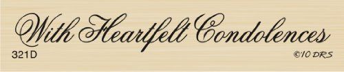 1 Line Heartfelt Condolences Rubber Stamp By DRS Designs DRS Designs Rubber Stamps http://www.amazon.com/dp/B0051AKT0U/ref=cm_sw_r_pi_dp_LkQWwb1YCE7JE