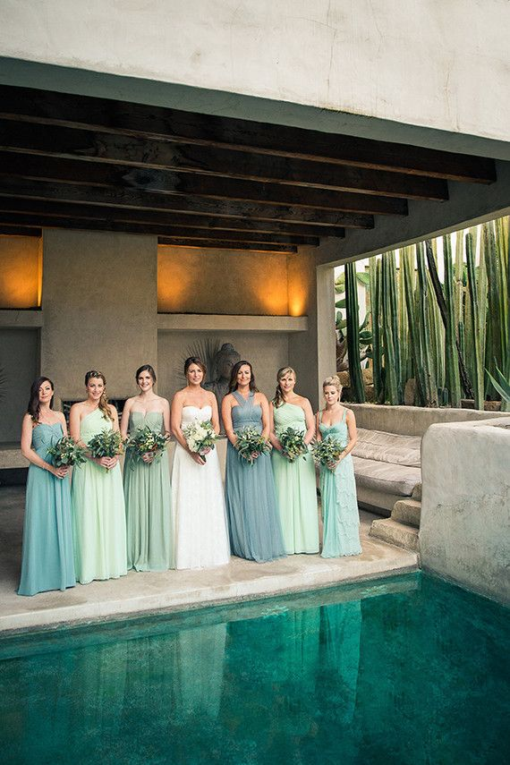 Blue & Green bridesmaid dresses would be great fir spring! Monika would be the only one wearing blue though. Shields Wedding 2017.