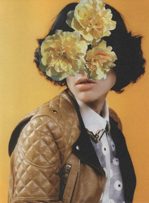 flowers in her hairLinder Sterling, Balenciaga Spring, Ss 2011, Pop Ss, Mellow Yellow, Art, Fashion Collage, Mel Bles, Yellow Flower