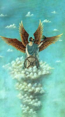 Raziel, príncipe de los querubines.   La palabra original es Baal Querub y significa poderoso. La misión de los Querubines es cuidar las cosas sagradas, son los portadores del Padre. Son los guardianes de las obras de Dios, sus templos y los caminos que conducen a una evolución espiritual y engrandecimiento de la conciencia.
