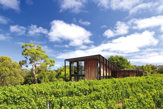 Set in a vineyard on Victoria's Mornington Peninsula, a weekender by Jackson…