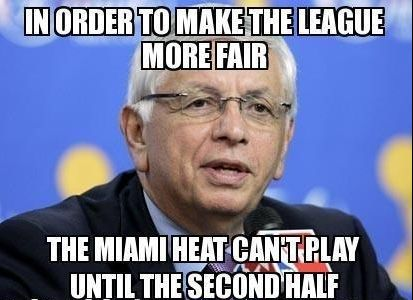 Funny Miami Heat Photos | ... Stern Finds The Solution To Beat The Miami Heat Meme | Sports Memes
