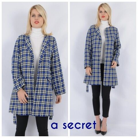 Dokuma belde bağlamalı paltomuz /Woven jacket www.asecret.com.tr