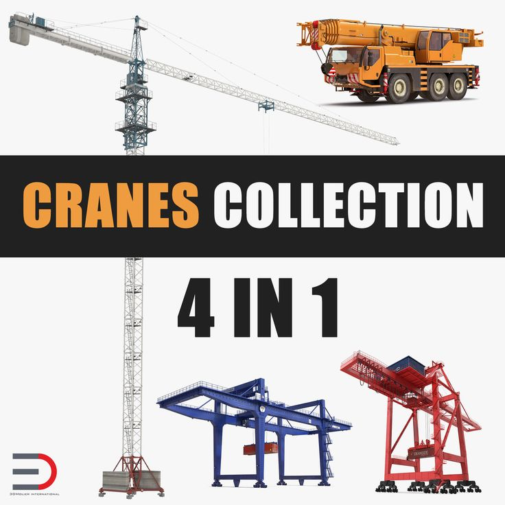 3D model Cranes Collection