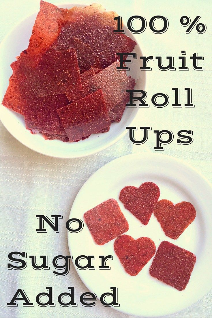 Homemade Fruit Roll Ups - No Sugar Added! Use these strawberry roll ups in lunch boxes or as a snack.