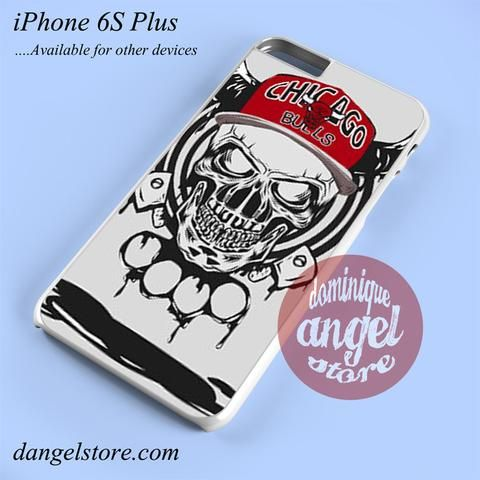 Chicago Bulls Skull Phone case for iPhone 6S Plus and another iPhone devices